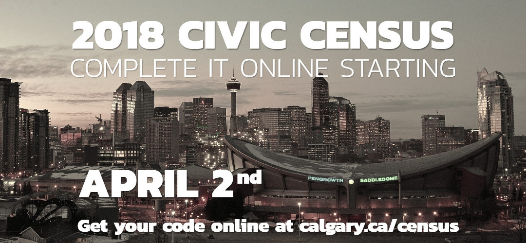 Reminder: Calgary Census