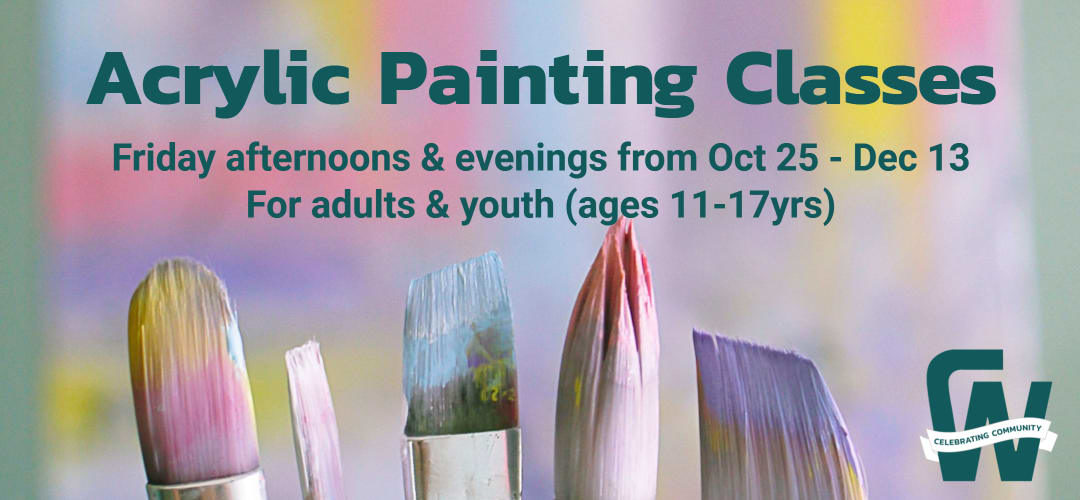 Acrylic Painting Classes for Youth & Adults