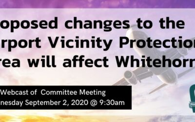 Proposed changes to the Airport Vicinity Protection Area will affect Whitehorn